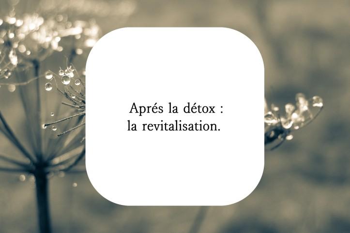 Détox revitalisation naturopathie
