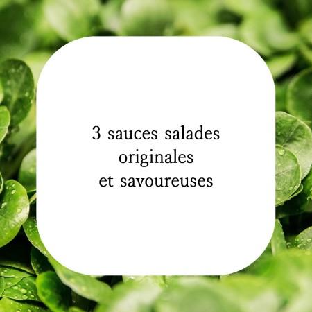 3 sauces salades originales et savoureuses