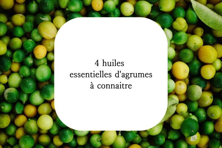 Huiles essentielles agrumes aromathérapie citron orane douce petit grai bigaradier dépression